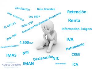 asesoria tributaría, asesoria tributaria, Declaraciones de renta, Retención en la fuente( RENTA, ICA, IVA), Industria y comercio, Impuesto a las ventas, Retención del CREE, Impuesto nacional al consumo( IMPOCONSUMO), Información exógena (medios magnéticos) nacionales y distritales, Generación de anexos y auxiliares, Certificados de retención, Información entes Reguladores