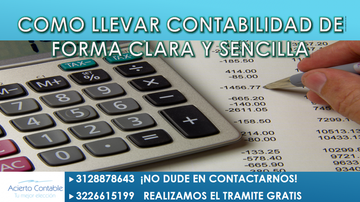 Como llevar contabilidad de forma facil en la ciudad Medellín Bello, Itagui, Sabaneta o en los diferentes municipios de Antioquia, Acierto contable le da algunos tips. Asesorías contables a su medida
