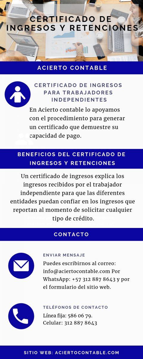 certificado de ingresos trabajadores independientes